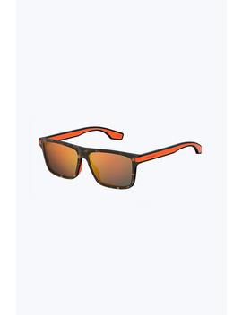 Iconic Stripes Neon Flat Top Sunglasses by Marc Jacobs