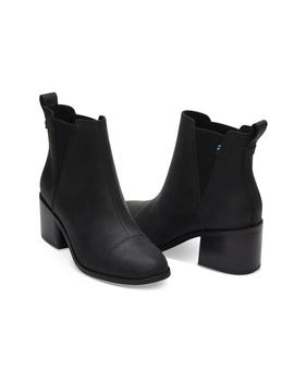 Black Leather Esme by Toms