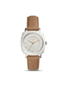Blakely Three Hand Tan Leather Watch by Fossil