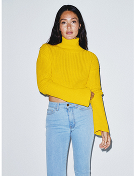 Fisherman Bell Sleeve Sweater by American Apparel