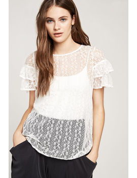 Cross Back Lace Top by Bcbgeneration