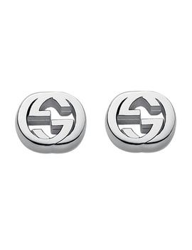 Gucci Interlocking Silver Stud Earrings by Beaverbrooks