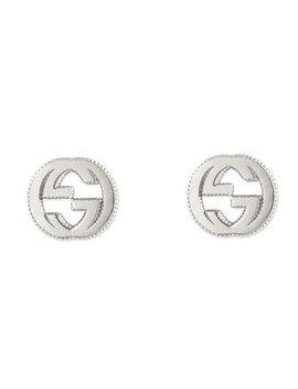 Gucci Interlocking G Silver Stud Earrings by Beaverbrooks