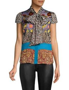 Jeannie Bow Collar Blouse by Alice + Olivia