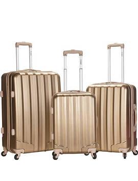 Santa Fe 3 Piece Hardside Spinner Luggage Set by Rockland Luggage