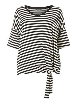 **Dp Curve Black Striped Knot Front Top by Dorothy Perkins