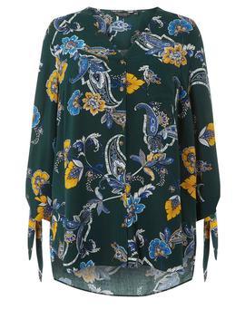**Dp Curve Green Tortoiseshell Paisley Print Shirt by Dorothy Perkins