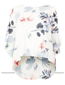 *Izabel London Curve White Floral Print Blouse by Dorothy Perkins
