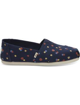 Navy Party Dots Women's Classics by Toms