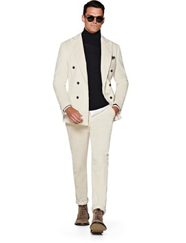 Havana Off White Plain Suit by Suitsupply