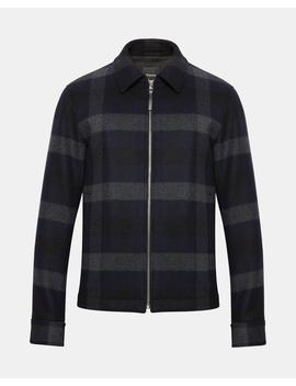 Wool Plaid Shirt Jacket by Theory