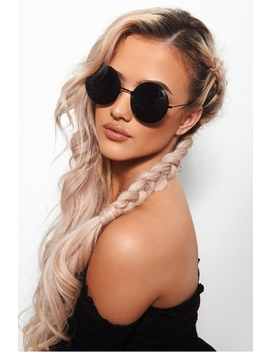 Black Circle Sunglasses by The Fashion Bible