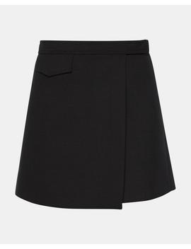 Bi Stretch Snap Mini Skirt by Theory