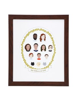 Personalized Family Cameo Portrait by Mary And Shelly Klein