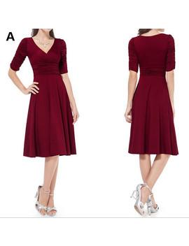 10 Color Deep V Neck Dress by Luulla