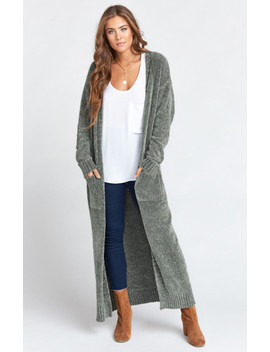 Charlize Duster ~ Dusty Olive Chenille by Show Me Your Mu Mu