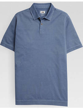 Joseph Abboud Chambray Polo Shirt by Mens Wearhouse