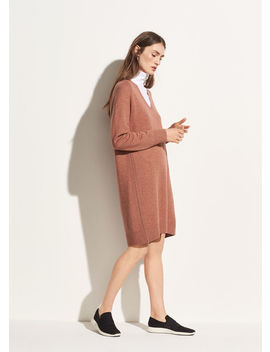 Deep V Neck Raglan Dress by Vince