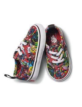 Vans X Marvel Toddler Authentic Elastic Lace by Vans