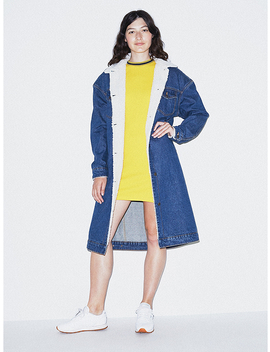 denim-sherpa-duster by american-apparel