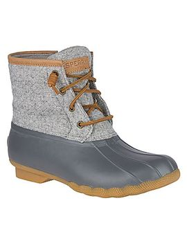 Women's Saltwater Wool Emboss Duck Boot by Sperry