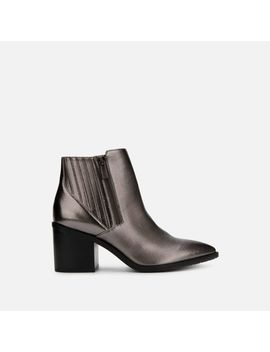 Cue Up Double Zip Muted Metallic Bootie by Reaction Kenneth Cole