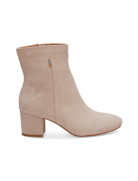 Blush Suede Women's Evie Booties by Toms