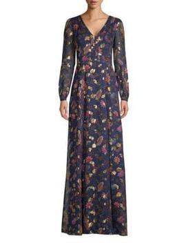 Annabel Metallic Floral Maxi Dress by Rachel Zoe