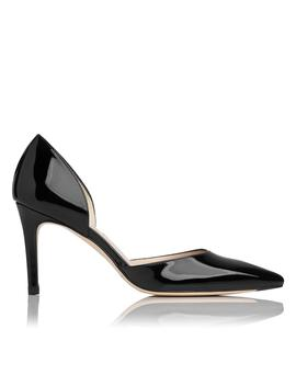 Flossie Black Patent Leather D'orsay Heel by L.K.Bennett