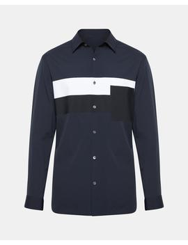 Color Blocked Relaxed Fit Shirt by Theory