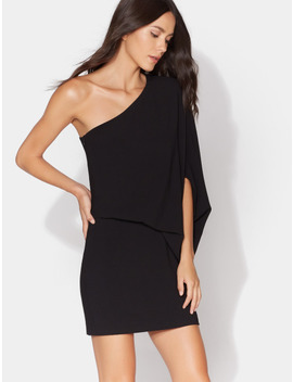 One Shoulder Dress by Halston