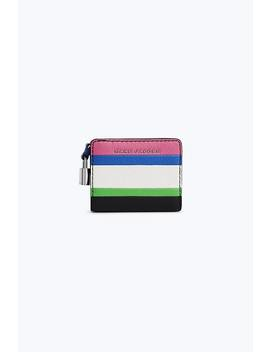 The Mini Grind Colorblocked Compact Wallet by Marc Jacobs