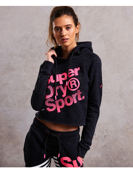 Sport Label Diagonal Hoodie by Superdry