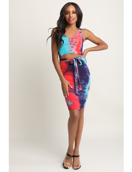 tie-dye-mid-section-cutout-dress by urbanog