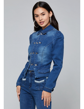 Denim Officers Jacket by Bebe