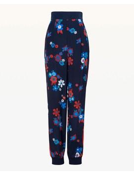 Hayworth Floral Silk Slim Pant by Juicy Couture