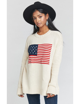 Fireside Sweater ~ American Flag by Show Me Your Mu Mu