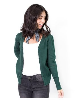 Staci Button Up V Neck Cardigan by Cents Of Style