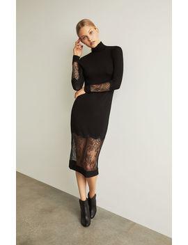 Lace Trimmed Sheath Dress by Bcbgmaxazria