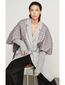 Houndstooth Trimmed Coat by Bcbgmaxazria