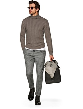 Taupe Turtleneck by Suitsupply