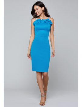 Reverse Ruffle Dress by Bebe