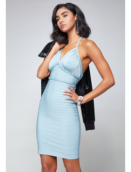 Halter Bandage Dress by Bebe