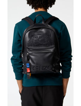 Tiger Backpack In Leather by Kenzo