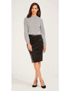 Naomi Faux Suede Skirt by J.Mc Laughlin