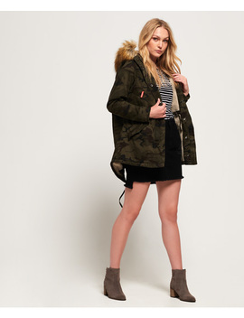 Classic Rookie Fishtail Parka Coat by Superdry