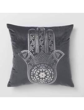 Velvet Hamsa Pillow by Dormify