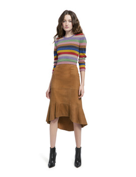 Kina Suede Pencil Skirt by Alice And Olivia