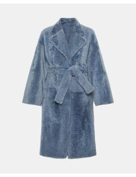 Shearling Robe Coat by Theory