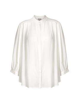 Sincere Textured Ivory Batwing Shirt by Olivar Bonas